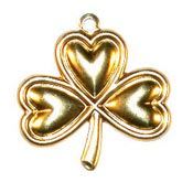 Large Shamrock Charm Brass