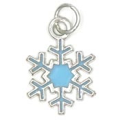 Small Light Blue Snowflake Charm