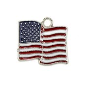 Large American Flag Charm