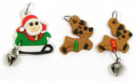 Polymer Clay Christmas Charms.Polymer Clay Christmas Charms