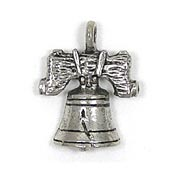 Liberty Bell Charm Silver Plated