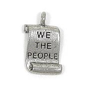 Constitution Charm Silver Plated
