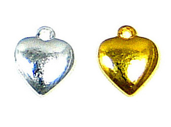Mini Half Puff Heart Charm