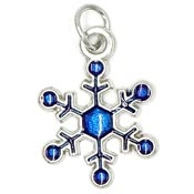 Small Blue Snowflake Charm 2