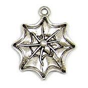 Spider Web Charm Silver