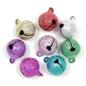 Designer Colored Stardust Jingle Bells