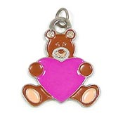 Heart Teddy Charm