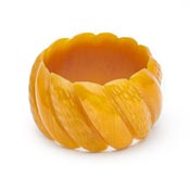 Chunky Golden Mustard Fakelite Bangle By Splendette