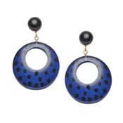 Indigo Leopard Earrings By Splendette