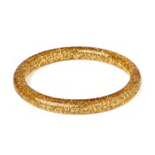 Narrow Pale Gold Glitter Bangle By Splendette