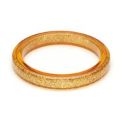 Pale Gold Glitter Bangle By Splendette