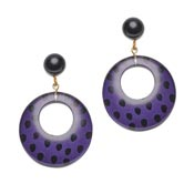 Purple Leopard Earrings By Splendette