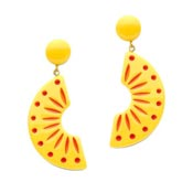 Sunrise Carved Drop Earrings By Splendette