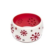 Extra Wide Lumi Atomic Snowflake Bangle By Splendette