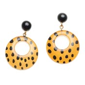 Yellow Leopard Earrings By Splendette