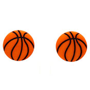 Acrylic Basketball Earrings