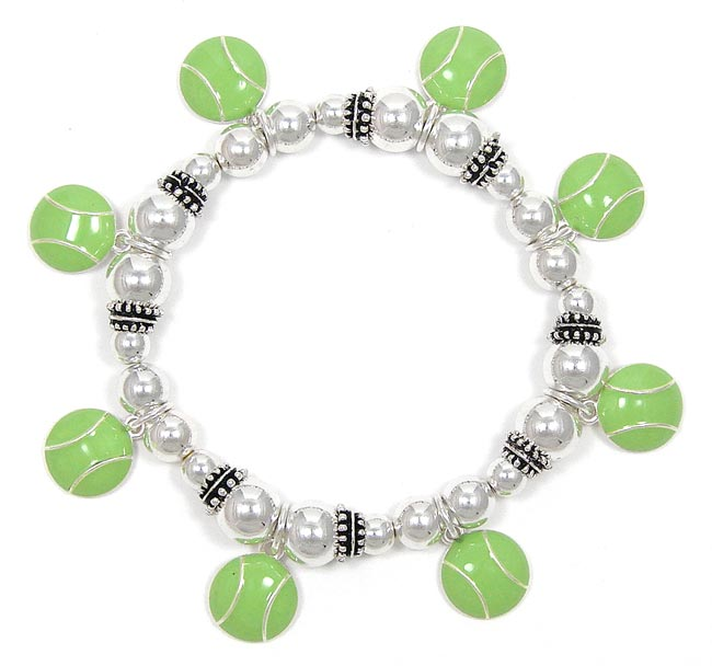 Tennis Charm Bracelet: Awesome Tennis Ball Charm Bracelet