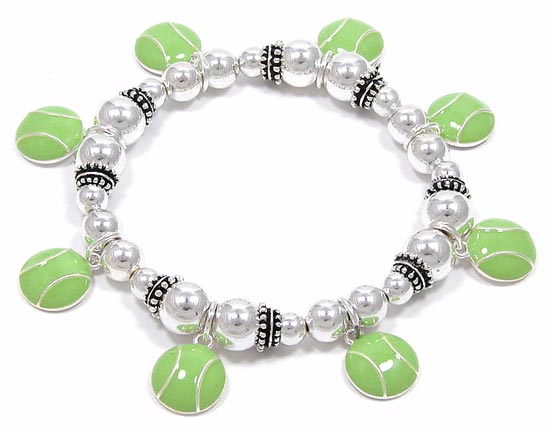Awesome Tennis Ball Charm Bracelet