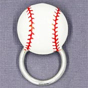 Baseball Glasses or ID Badge Pin Holder