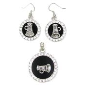 Cheerleader Earrings And Pendant Set