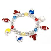 Colorful Football Charm Bracelet