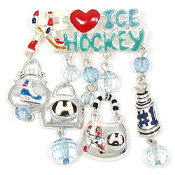 I Love Ice Hockey Pin