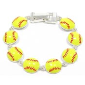 Magnetic Softball Bracelet