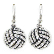 Crystal Volleyball Earrings