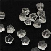Clear Flower Shaped Earring Keepers 20 Pieces