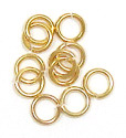 Small Gold Plated Jumprings 5mm