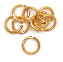 Large Gold Plated Jumprings 7mm