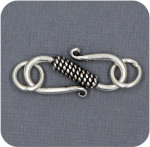 Sterling Large S Clasp With Jumprings