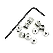 Super Secure Screw On Pin Backs For Tie Tack Style Pins - 10 Pieces