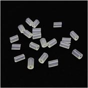 Clear Tube Shaped Earring Keepers 20 Pieces