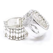 Stretch Ring Silver Plated
