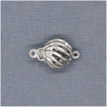 Sterling Spiral Twist Safety Clasp
