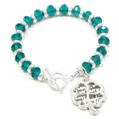 Teal Good Luck Bracelet