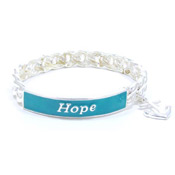 Teal Hope Is My Anchor Bracelet