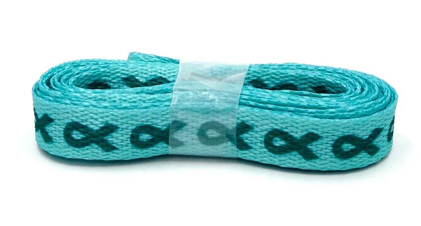 Teal Awareness Ribbon Shoelaces