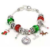 I See Its Christmas Slider Bead Bracelet