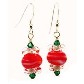 Christmas Peppermint Earrings