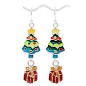 Presents Under The Christmas Tree Earrings