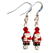 Tiny Santa Earrings