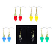 Resin Christmas Light Bulb Earrings Pick Your Color