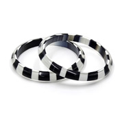 Hard To Find Cased Black And White Bangles Set Of Two Bookpiece