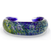 Kevin O'Grady Glass Sea Feather Bangle