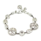 Brighton Silvertone Bracelet With Stars Hearts And More