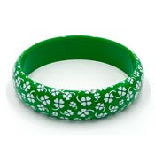 Four Leaf Clover Printed Bangle Bracelet