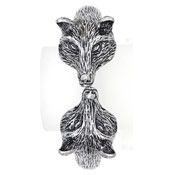 Fox Heads Clamper Bangle Bracelet