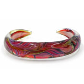 Kevin O'Grady Glass Aurora Borealis Bangle